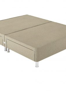 Therapur D P/T 2+2 Drw Leg Base Only Tweed Biscuit 4'6 Double OATMEAL