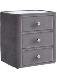 Ellis 3 Drawer Bedside GREY