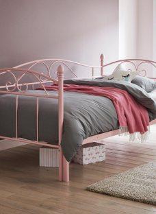 Kylie S Metal Bed Frame 3'0 Single PINK