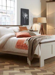 Sloane Bed Frame - Champagne And Dark Wood 5'0 King CREAM