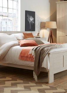 Sloane Bed Frame - Rustic Oak 5'0 King BROWN