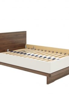 Cali Bed Frame - Champagne And Dark Wood 5'0 King BROWN