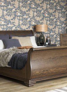 Otis Pine Wooden Bed Frame 4'6 Double WALNUT