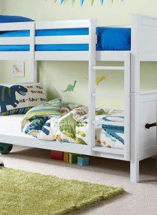 Hutchin Bunk Bed Frame 3'0 Single WHITE