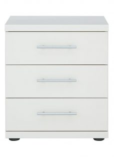 Samara 3 Drawer Bedside Chest - White