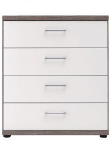 Melbourne 4 Drawer Chest - Oak & White