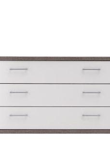 Melbourne 3 Drawer Wide Chest - Oak & White