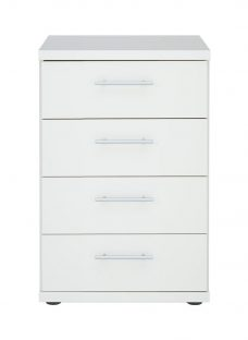 Samara 4 Drawer Narrow Chest - White