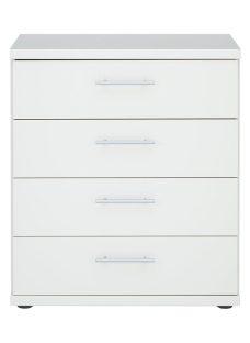 Samara 4 Drawer Chest - White