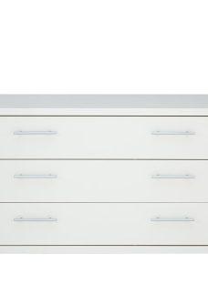 Samara 3 Drawer Wide Chest - White
