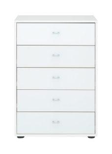 Memphis 5 Drawer Chest - White