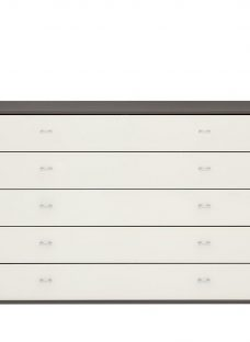 Memphis 5 Drawer Wide Chest - Grey
