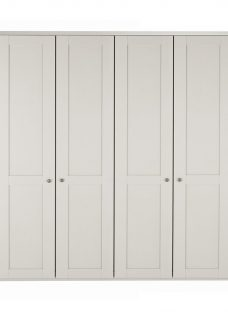 Sloane 4 Door Wardrobe - Champagne CREAM