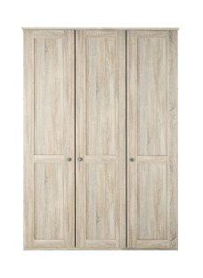 Sloane 3 Door Wardrobe - Rustic Oak BROWN