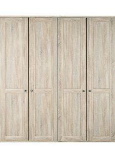 Sloane 4 Door Wardrobe - Rustic Oak BROWN