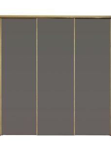 Minsk 3 Door Sliding Wardrobe - Oak & Grey BROWN
