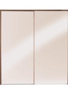 Minsk 2 Door Sliding Wardrobe - Oak & Bronze BROWN