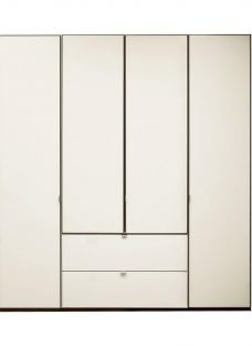 Memphis 4 Door Combi Wardrobe - Grey