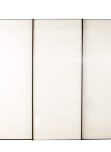 Memphis 3 Door Sliding Wardrobe - Grey - Extra Large