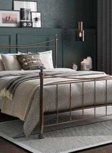 Lizzie K Rose Gold Bed (Sprung Slats) 5'0 King