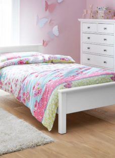 Hutchin Single Wooden Bed Frame 3'0 Single WHITE