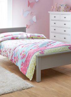 Hutchin Single Wooden Bed Frame 3'0 Single GREY