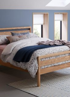 Woodstock Wooden Bed Frame 4'6 Double BROWN