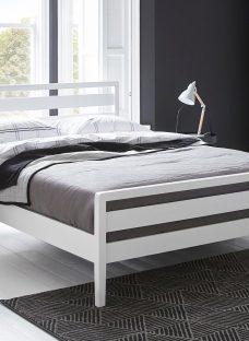 Woodstock Wooden Bed Frame 5'0 King WHITE