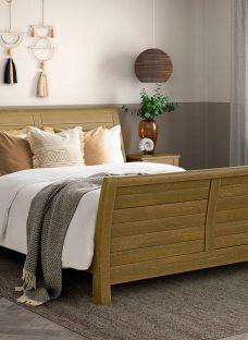 Kensington Pine Wooden Bed Frame 4'6 Double BROWN