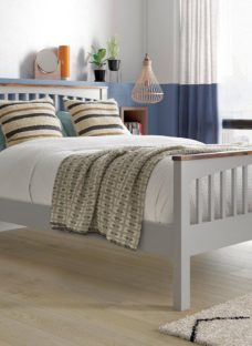 Fleetwood Two Tone Wooden Bed Frame 6'0 Super king GREY