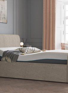 Lucia Sleepmotion 200i Adjustable Upholstered Bed Frame 5'0 King SILVER