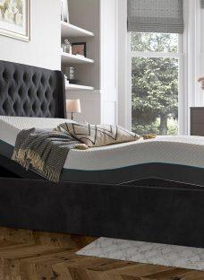 Deacon Sleepmotion 200i Adjustable Upholstered Bed Frame 4'6 Double GREY