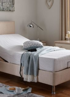 Fontwell Mattress With Standard Oatmeal Adjustable Divan Bed On Legs - Firm 4'6 Double BEIGE