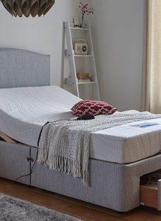 Fontwell Grey Adjustable Divan Bed - Firm 4'6 Double