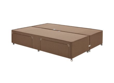 Luxury Divan Base 6'0 Super king BROWN