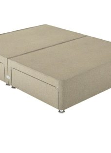 Therapur D P/T 4 Drw Base Only Tweed Biscuit 4'6 Double BEIGE