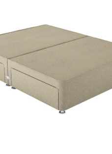 Therapur SK P/T 2+2 Drw Base Only Tweed Biscuit 6'0 Super king BEIGE