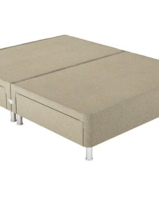 Therapur D P/T 2+2 Drw Leg Base Only Tweed Biscuit 4'6 Double BEIGE
