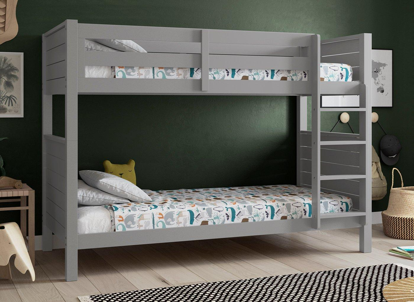 Picture of: Jupiter Wooden Bunk Bed Grey Bed Sava