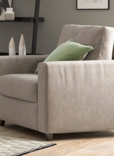 Fabric Accent Chair - Natural CREAM