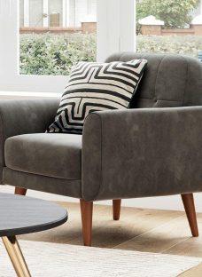 Gallway Chair - Steel Grey Velvet