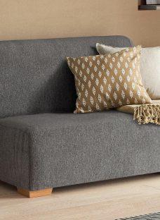 Cork 1 Seater A-Frame Sofa Bed - Grey Single