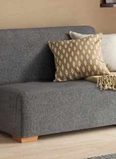 Cork 2 Seater 4'6 A-Frame Sofa Bed - Grey Double
