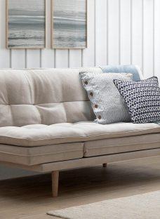 Dublin 3 Seater Clic Clac Sofa Bed - Natural CREAM