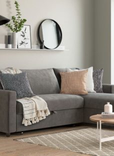 Limerick 3 Seat Corner Sofa Bed - Smoke DARK_GREY