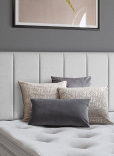 Columbia Headboard 2'6 Small single SILVER
