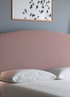 Verona S Full Height H/B Tweed Blush 3'0 Single PINK