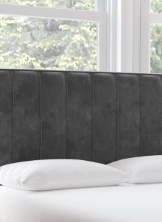 Nocturne D Strutted H/B Plush Pewter 4'6 Double GREY