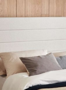 Contract Upholstered Headboard Double 4'6 Double SILVER