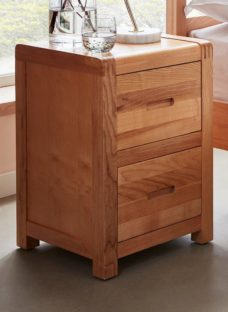 Woodstock 2 Drawer Bedside Chest OAK